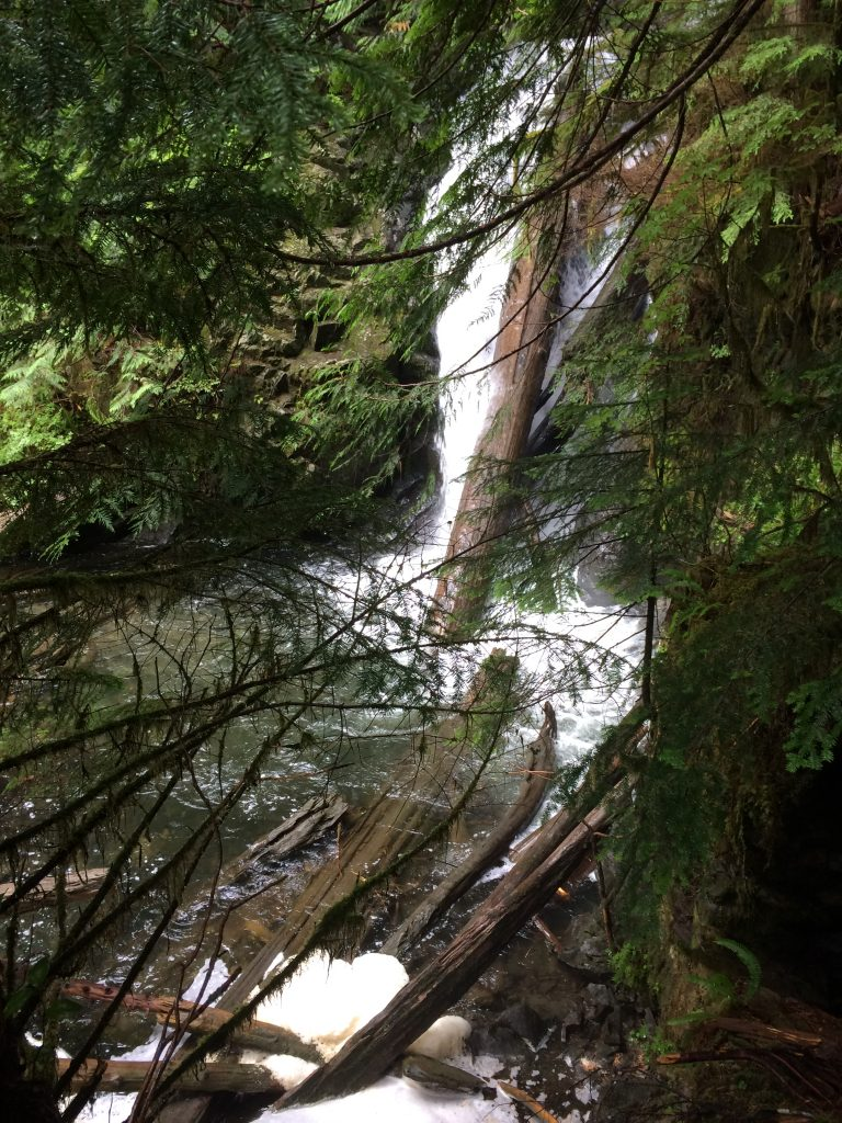 Lake 22 large waterfall