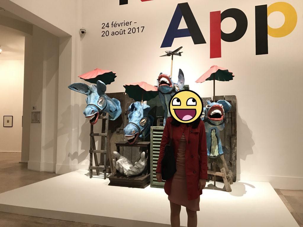Karel Appel exhibit at the National Museum of Modern Art in Paris