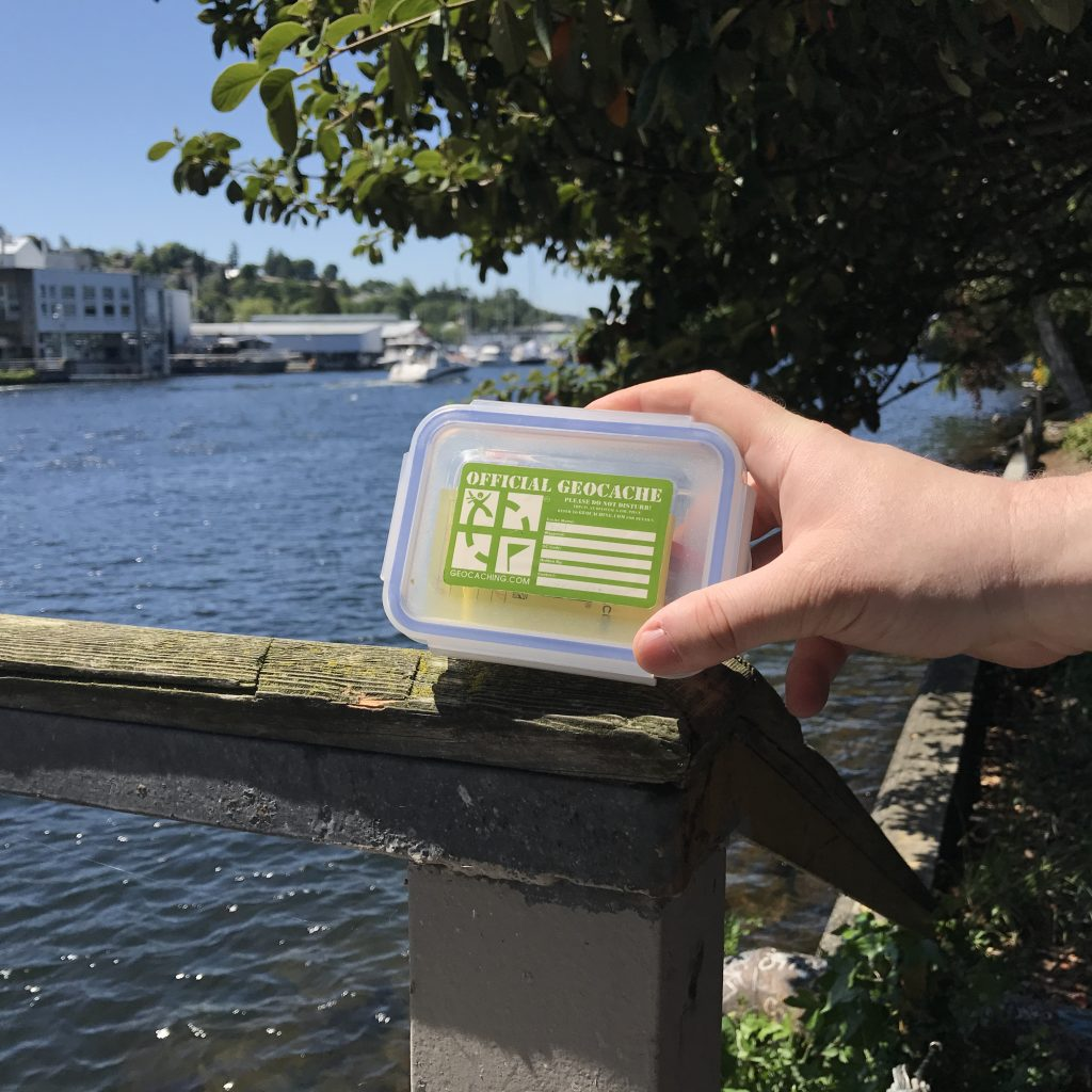 Geocache by the water