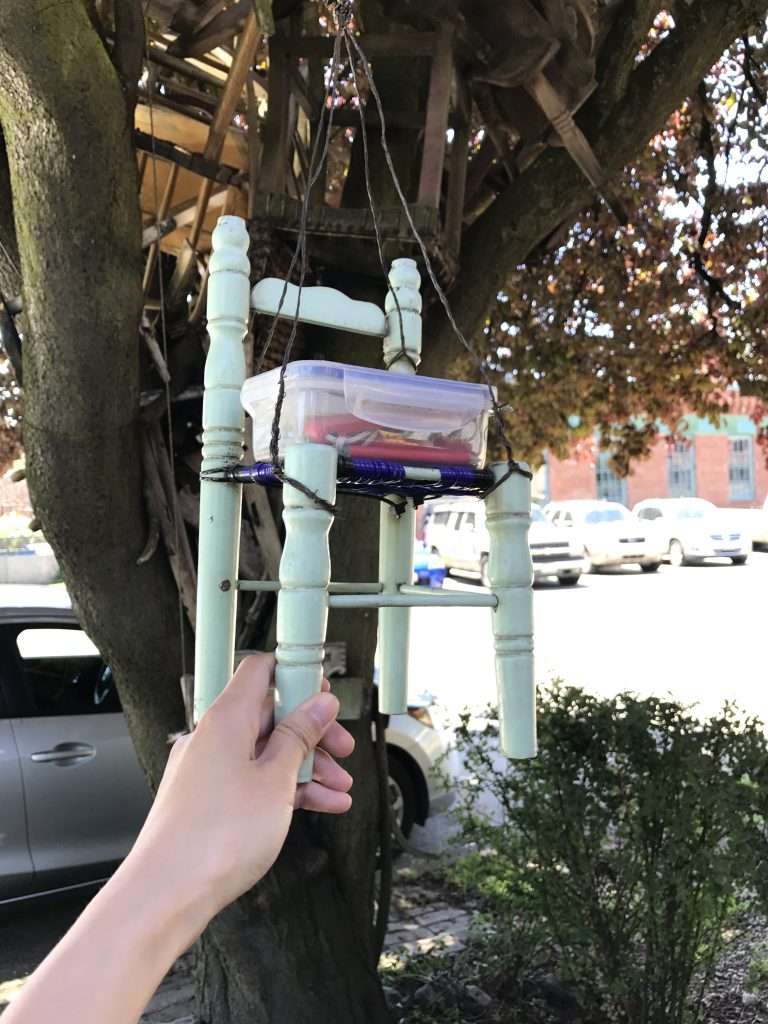"""Chairy Tree"" geocache"