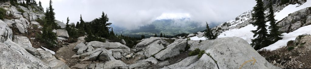 Mount Pilchuck trail through rock and snow