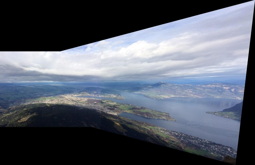 Panorama - left and right image combined