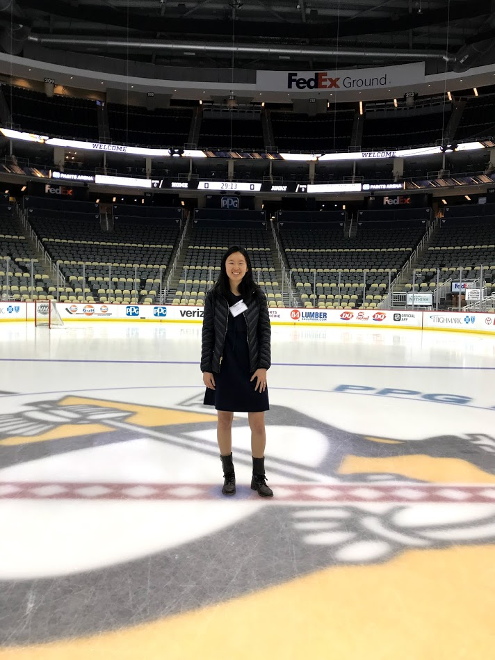 Center ice at PPG Paints Arena