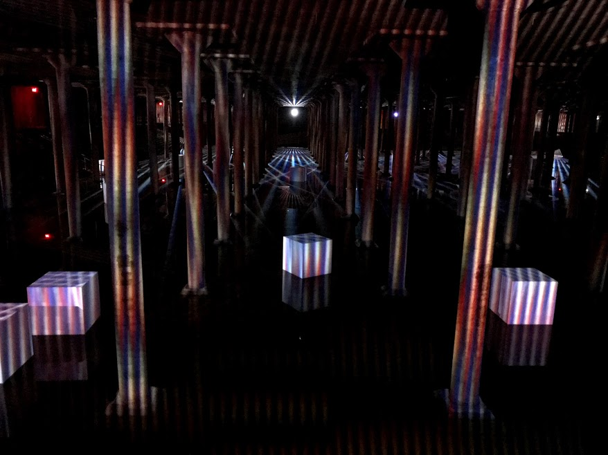 Carlos Cruz-Diez at the Buffalo Bayou Park Cistern: Spatial Chromointerference